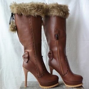 Boots with Fur, Bows and Tassels